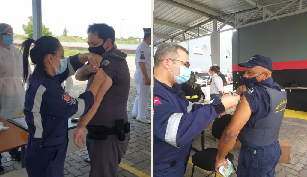 Cidades - 19º Batalhão inicia vacinação de agentes de segurança da região