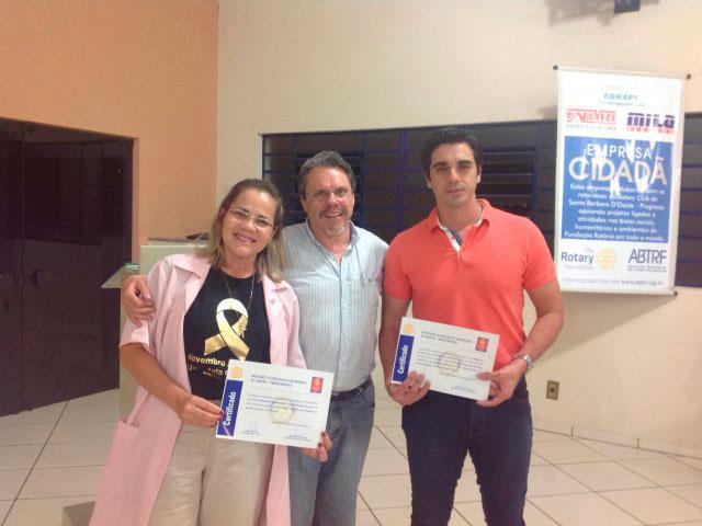 Cidades - Rotary Progresso presta homenagem ao  voluntário e profissional de destaque do ano