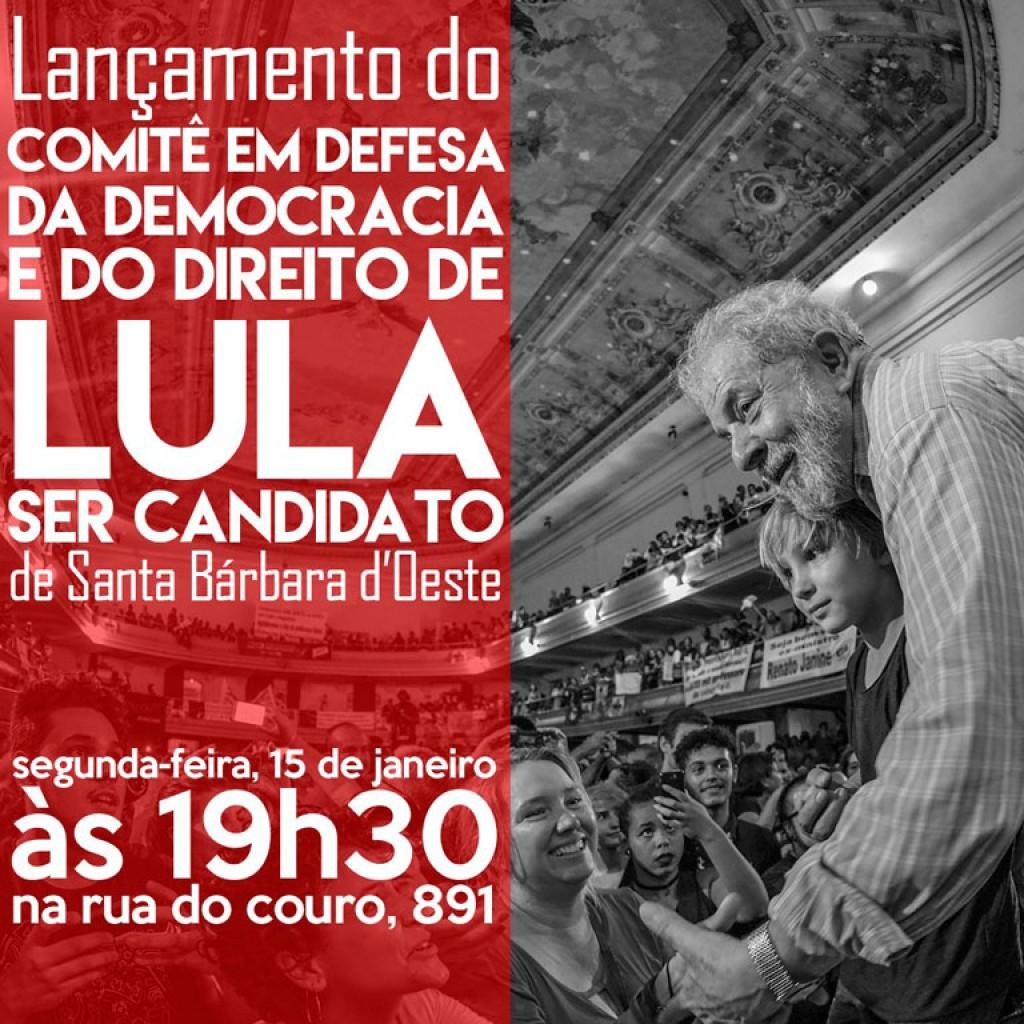 Política - Diretório do PT em  SB irá lançar 2ª Comitê em Defesa de Lula ser candidato