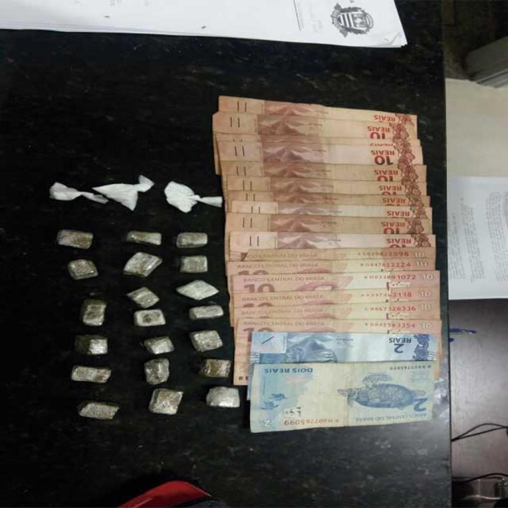 Polícia - FT encontra drogas com homem no Parque do Lago