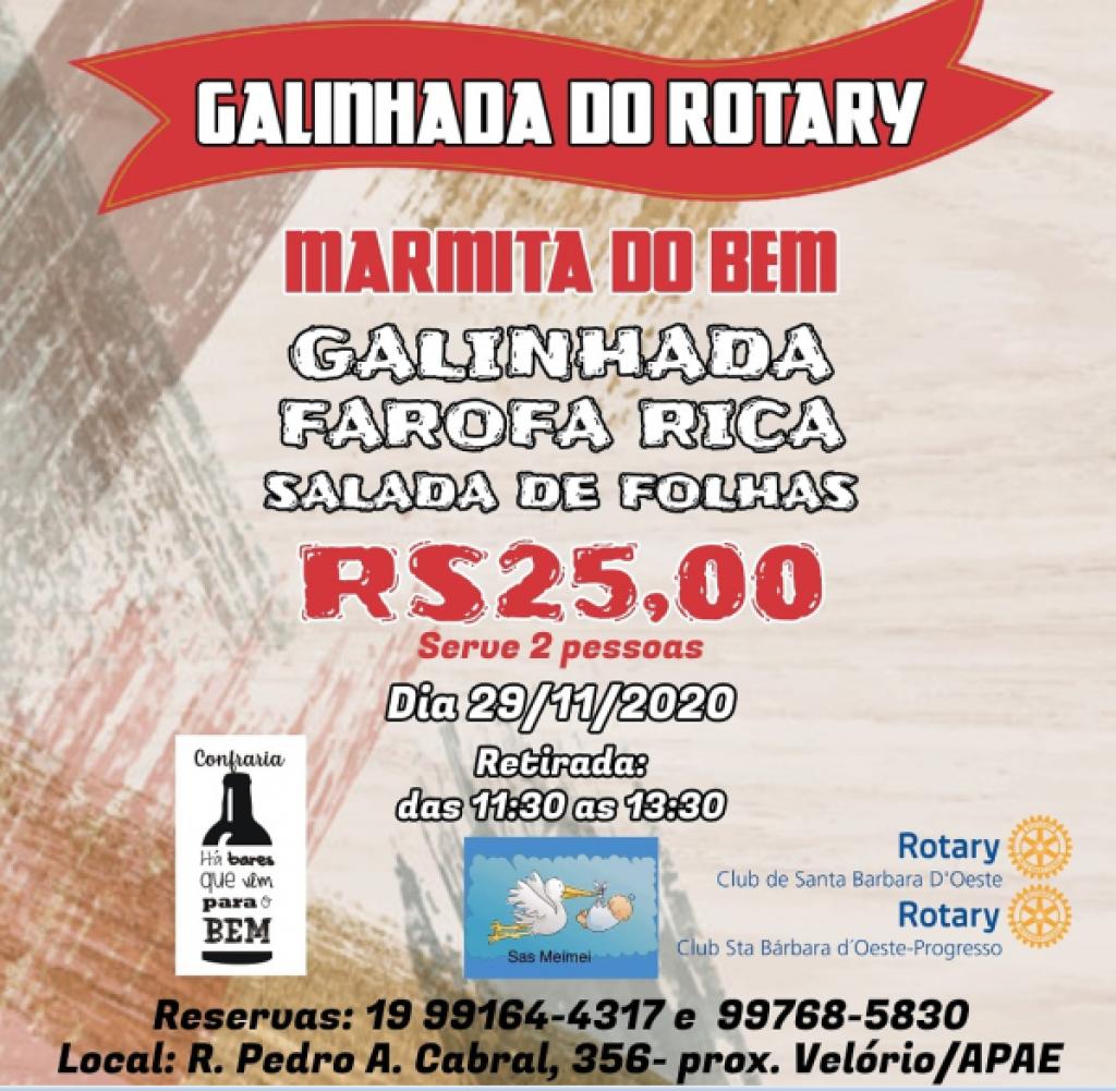 Cidades - Rotary Clubs de SB promovem  Marmita do Bem de Galinhada