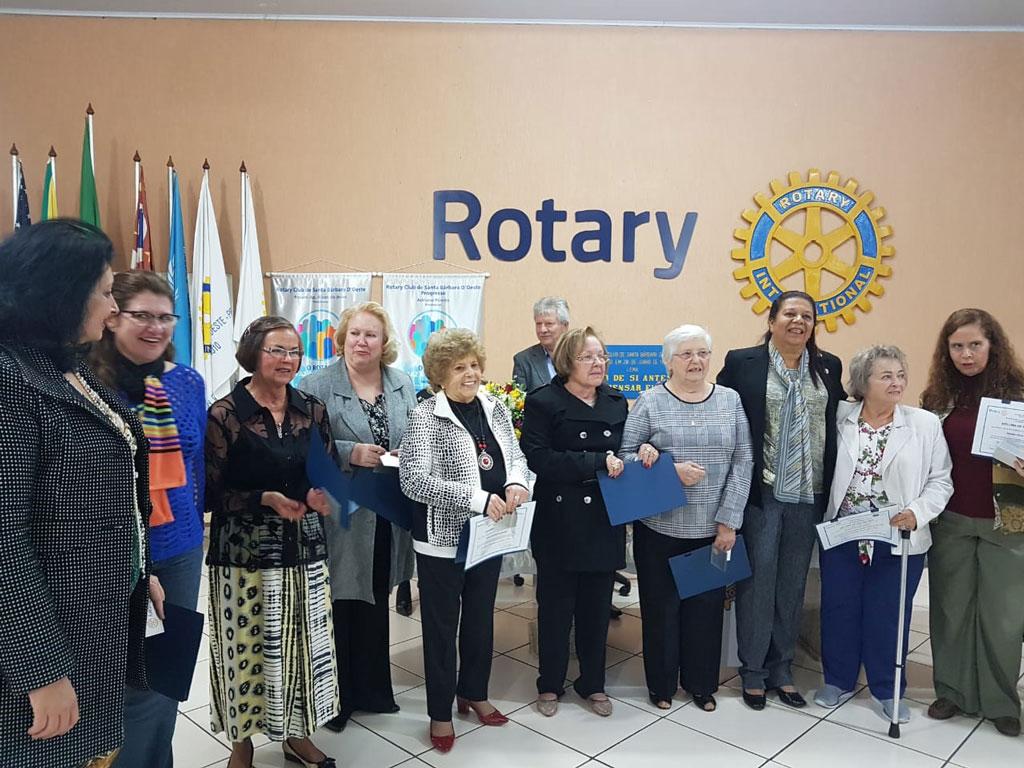 Cidades - Rotary Santa Bárbara homenageia ex-presidentes da Rede Feminina