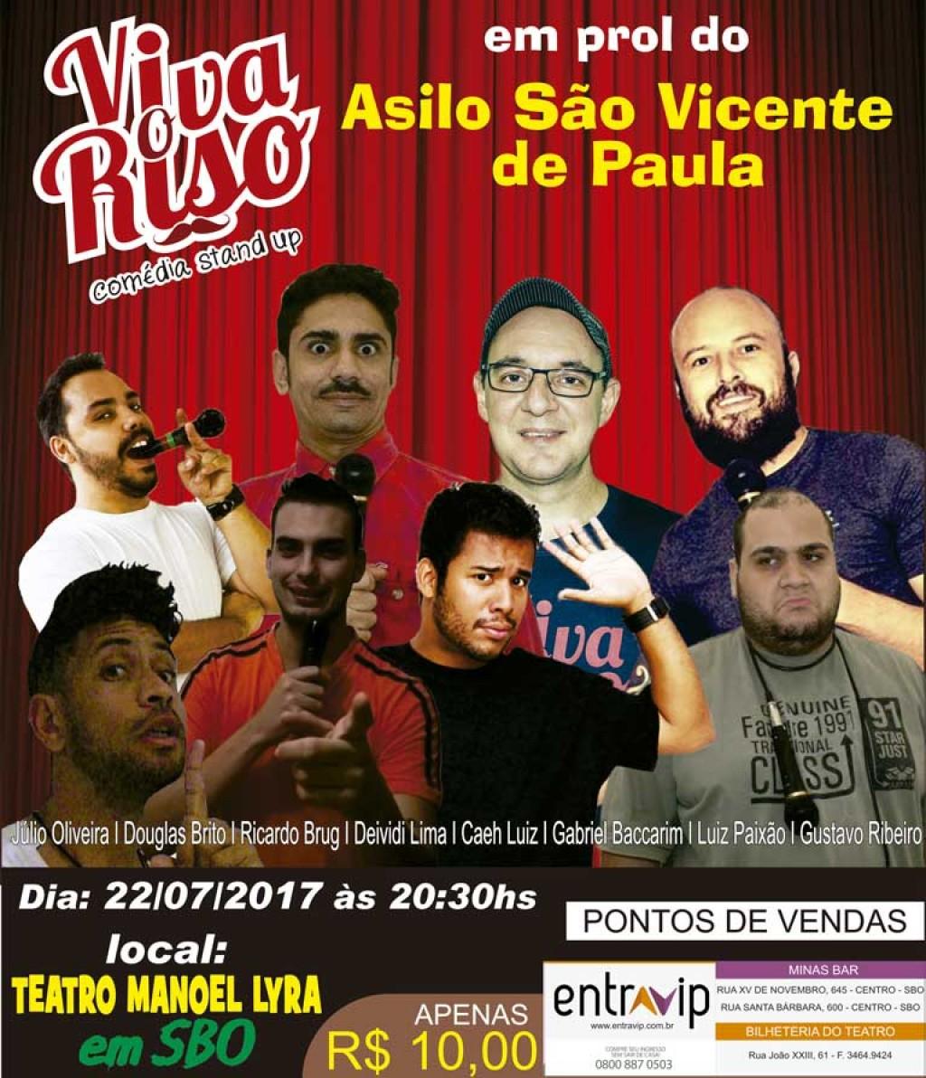 """Cultura - Projeto """"Viva o Riso"""" promove amanhã apresentação beneficente"""