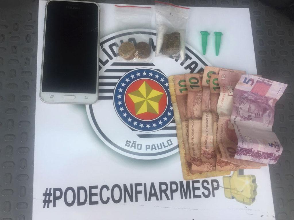 Polícia - Dupla é detida com drogas no Batagin