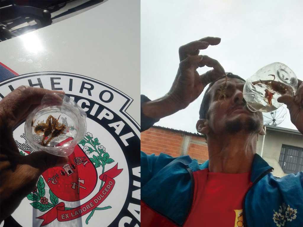 Polícia - Preso morador de rua que fazia ameaças com escorpiões