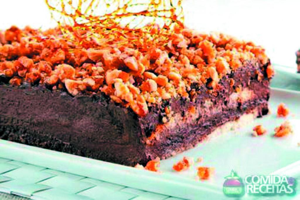 Receitas - Pavê de chocolate crocante especial