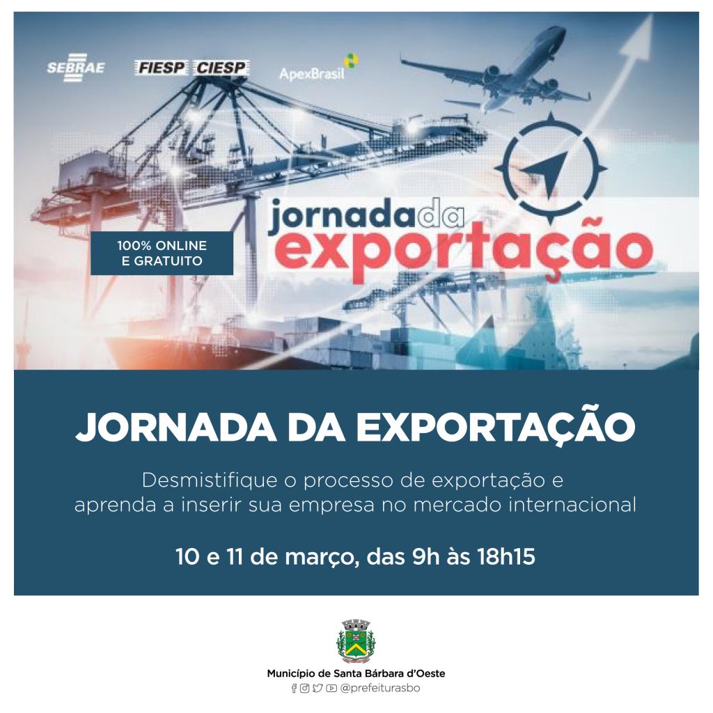 """Cidades - Sebrae oferece """"Jornada da Exportação"""" a empresários da Indústria"""