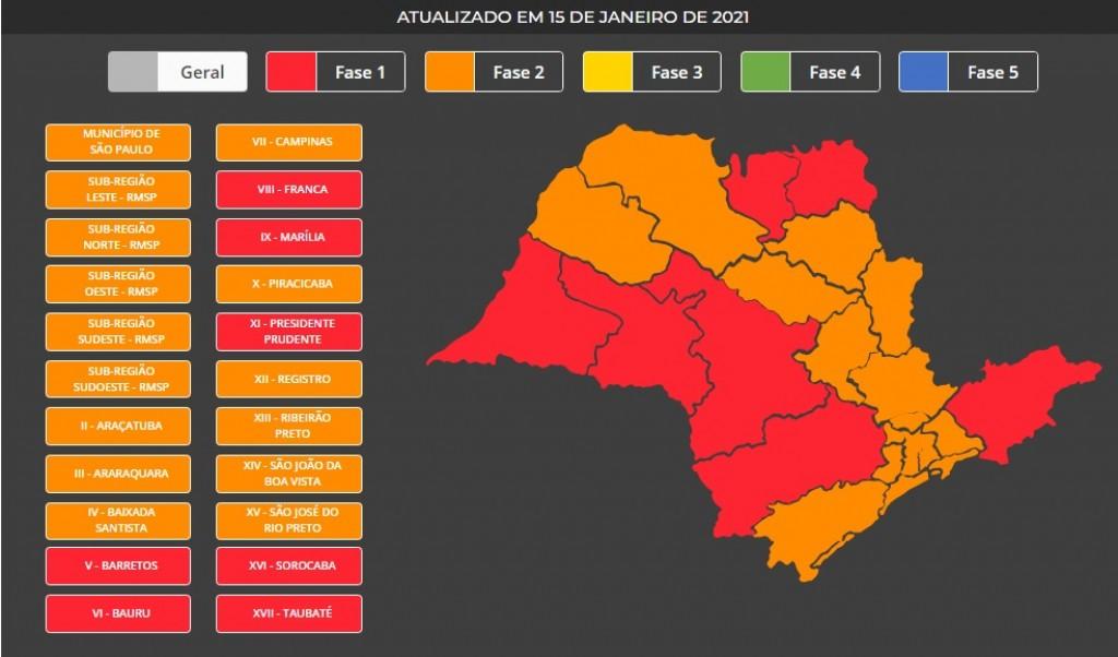 Cidades - Região regride para Fase Vermelha aos finais de semana