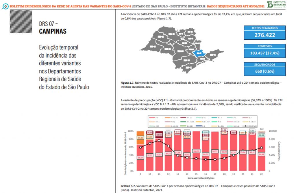 Cidades - Mapeamento aponta 9 variantes do coronavírus na região