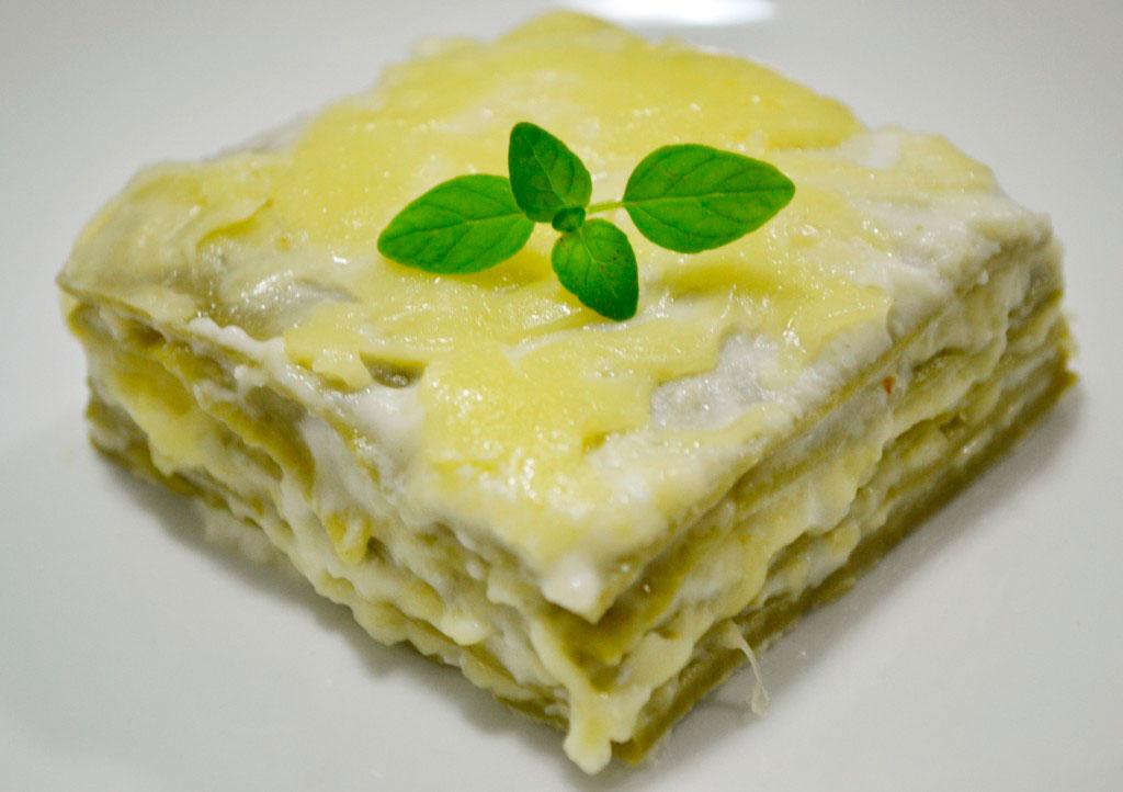 Receitas - Lasanha 4 queijos