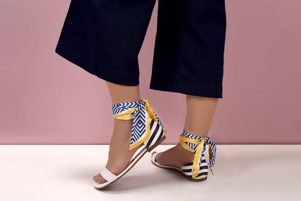 Caderno Mulher - Vizzano lança calçados com lenços de cetim