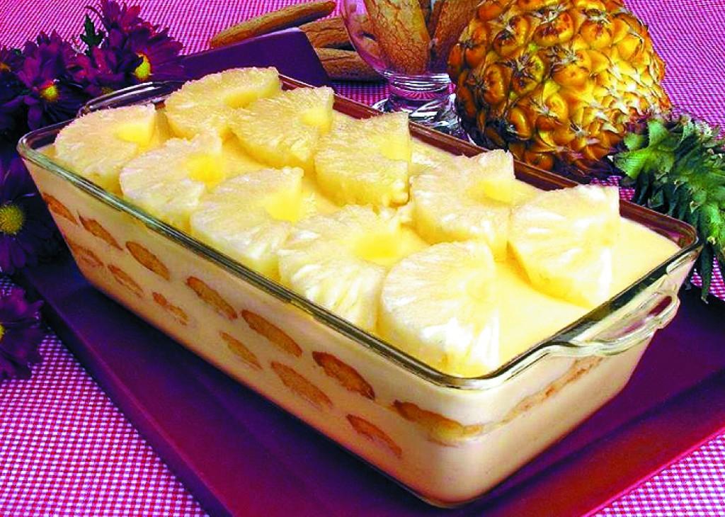 Receitas - Cassata de abacaxi