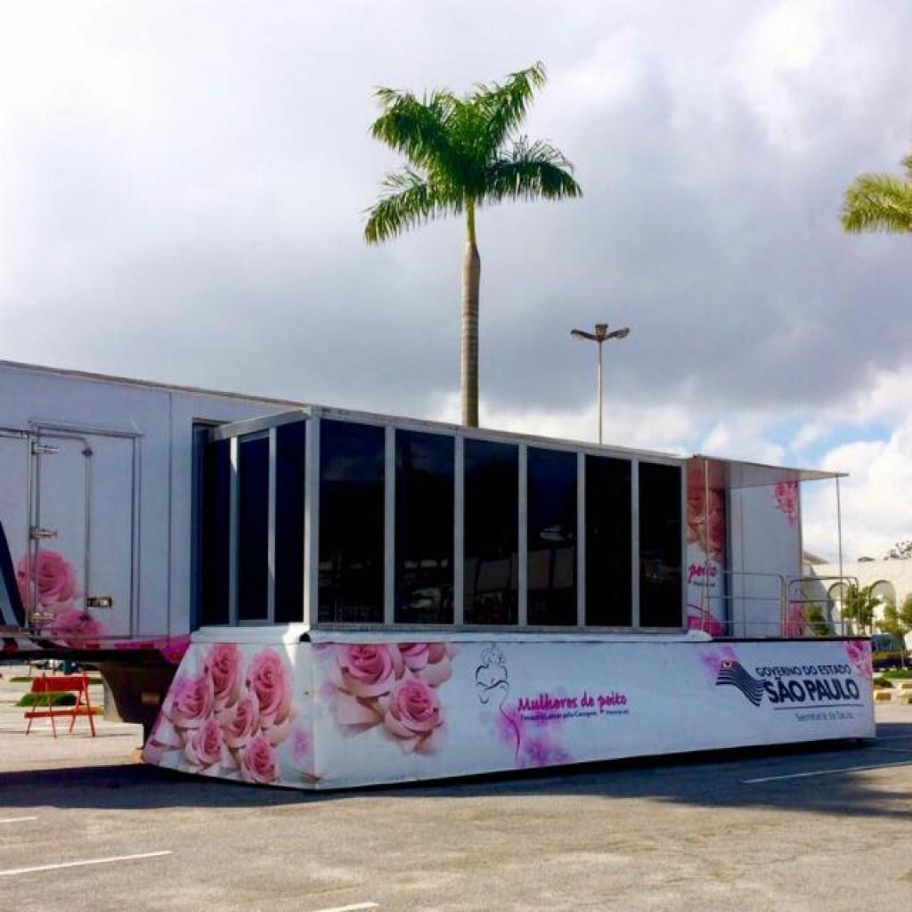 Saúde - Carreta da mamografia estará entre 13 a 28 de março em SB